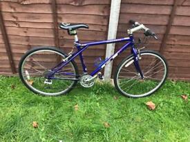 Man's blu bike