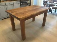 Oak wood kitchen table