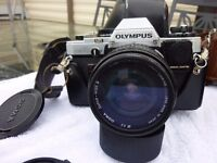 Olympus OM1 and Camera bag of accessories