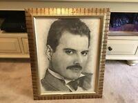 Freddie Mercury penci etching by Jonathan Wood