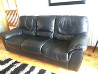 Leather sofa and chairs £100