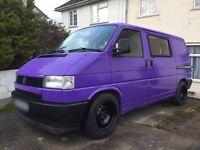 VW Transporter T4 Original Kombi Surfbus Dayvan Camper Purple