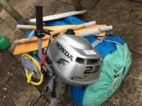 Honda 2.3Hp 4stroke outboard and Avon Rover 2.60 inflatable Dinghy