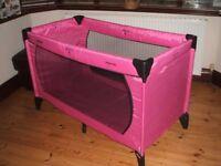 Hauck Bright Pink Travel Cot/Playpen