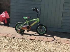 "Children's dinosaur bike 12"" wheels"