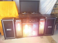 FAL Disco Setup Lights Speakers Amp Citronic CL12D Decks Vintage 1970's