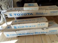 COMPLETE KS901 TYOTA KNITTING MACHINE WITH ALL ATTACHMENTS STILL BOXED