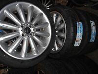 """17"""" GENUINE BMW MINI R56 COOPER S ALLOY WHEELS WITH BRAND NEW TYRES"""