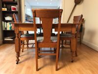 20th Century Dining Table and 6 chairs