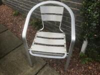 Garden chairs 4 aluminium need a clean up £30.
