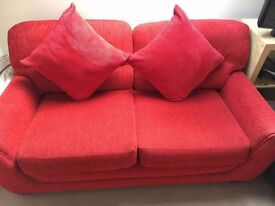 Great condition 2 and 3 seat sofas complete with 4 large cushions!! QUICK SALE NEEDED