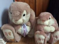 Limited edition large soft touch rabbits