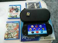 Sony PS Vita OLED (3.60) boxed and 4 games