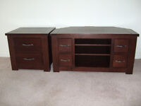 "Next Furniture 2 items, Cambridge range, TV corner unit fits 42""TV, side, lamp or bedside table"