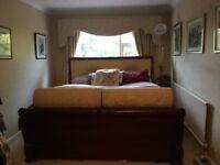 Sleigh queen bed with mattress