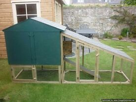 chicken coop with covered or uncovered run