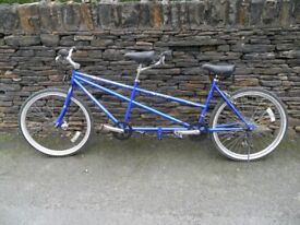 Tandem - Bicycle made for two! Mountain Bike Style 21 Gears 26 inch Wheels Comfy Seats V.G.C