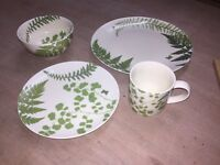 Marks & Spencer 12pcs dining set and 4 matching mugs