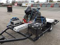 Motorcycle triple twin quad trailer race track