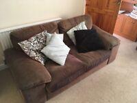 Comfy 3-seater sofas x2