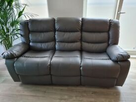 Grey sofas, grey recliner 3+2 seaters