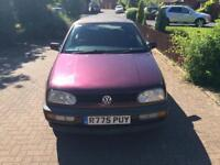 Golf 1999 1.8 convertible 12 Months MOT