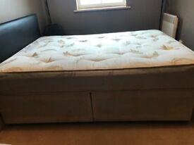 Double Divan bed , light usage , was second bedroom bed.