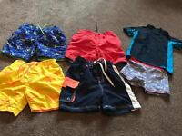 BOYS SWIMMING SHORTS & TOP SIZE 3-4 YEARS £5