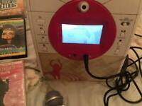 KARAOKE MACHINE WITH CAMERA SCREEN AND DVDS, ALL WORKING ORDER, GRAB A BARGAIN
