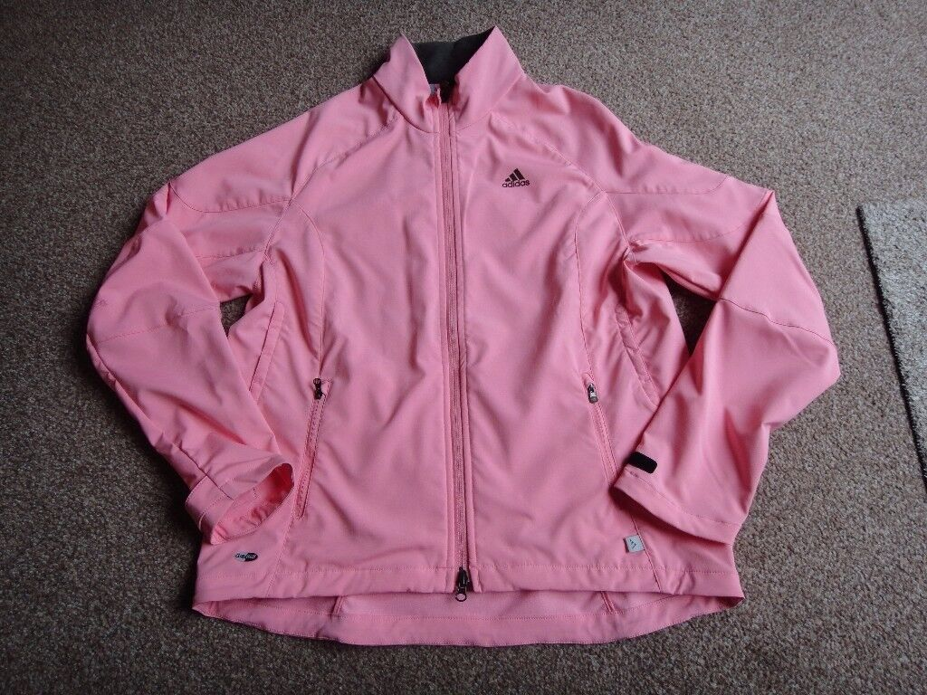 Adidas climaproof pink jacket size uk 14 still in very good condition