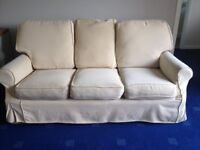 Three seater settee and two chairs