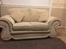 sofa 3 seater in good condition material fabric. local pick up or can deliver in south yorkshire for