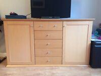 Beech wood sideboard for sale
