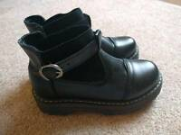 CLEARANCE Female Black Boots size 5UK