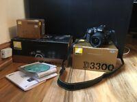 Nikon D3300 camera with 18-55 lense