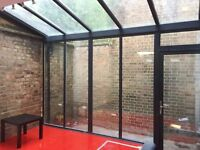 Bright London Fields Warehouse 3,000 sq ft w/ Mini Garden - Cafe, Workspace, Retail, Gallery, Event