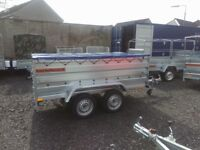 New Trailer 8.7 x 4.2 twin axle, double broadside flat cover free