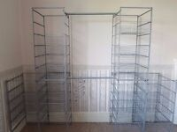 IKEA Metal Wardrobe - 6 frames and 25 baskets