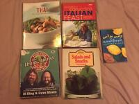 Various selection of cooking books used but good condition