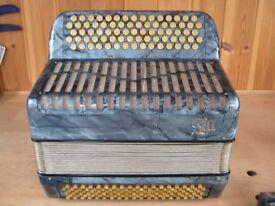 Buchen, Bulach Sell, 3 Voice, 5 Row, C System, Chromatic Accordion, 111 Bass.