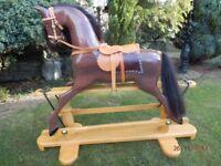 Rocking Horse-Hand carved-Hard Wood