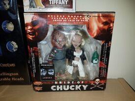 Bride of chucky collectable set chucky and tiffany