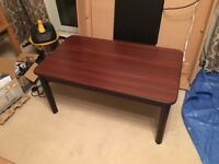 Dark Wood Finish Coffee Table
