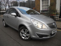 NEW SHAPE Vauxhall Corsa 1 Litre in beautiful Met Silver LOW MILEAGE not polo yaris punto fiesta 206