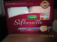Silhouette Depends diapers
