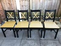 4 Upcycled Dining Chairs - Free Delivery