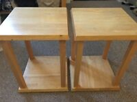 2x beech excellent condition wood side/coffee tables