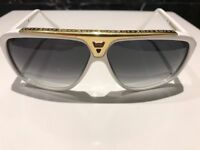 Genuine Louis Vuitton Evidence Sunglasses white gold, rrp £480, bargain