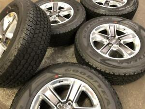 18 JEEP WRANGLER 5 SPOKE WHEELS, SENSORS and GOODYEAR TIRES (JEEP WRANGLER) SET OF 5 Calgary Alberta Preview