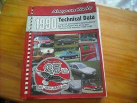 Snap-on car data manual